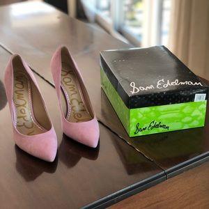 Sam Edelman Pink Suede Heels - size 8